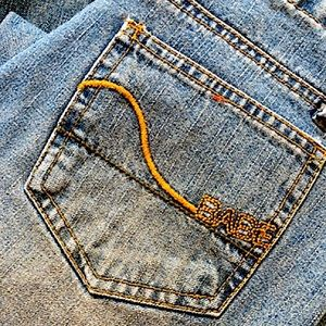 """Vintage """"BABE"""" Embroidered Jeans"""